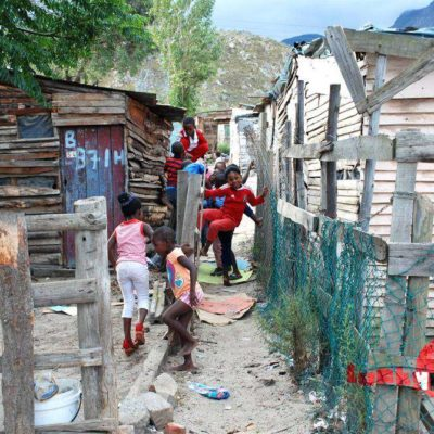 Playing in the township