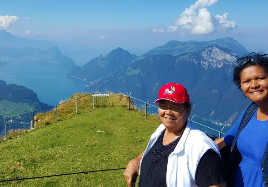 Elizabeth and Claudia visit Switzerland