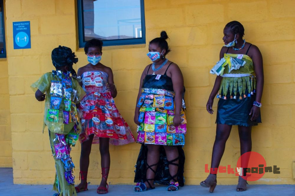 Clothing designed and made from recycled material