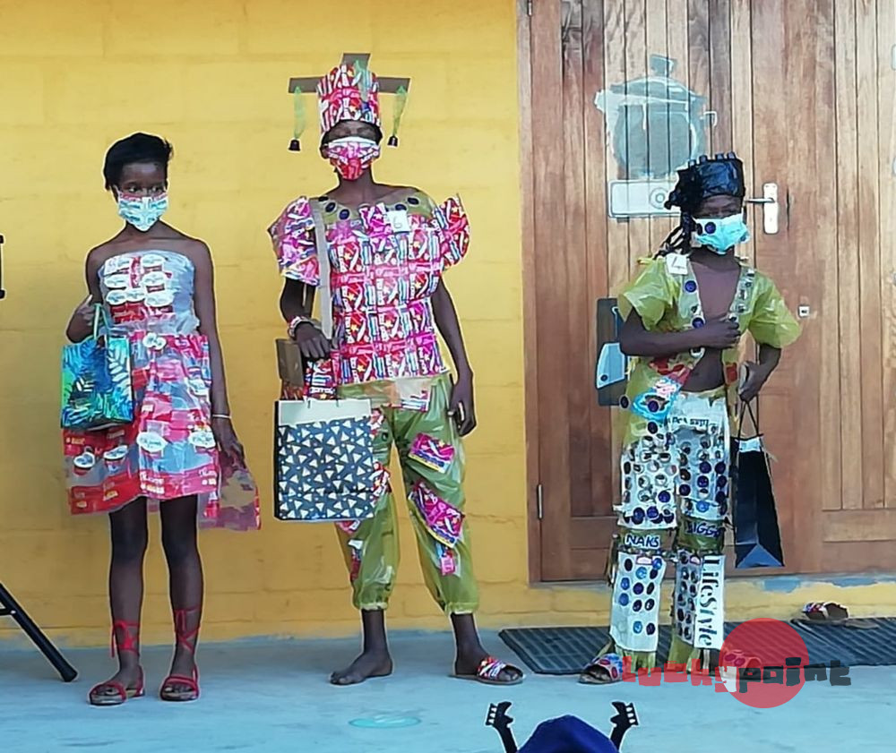 Clothing made from recycled material