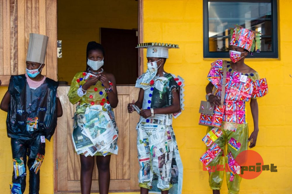 Lucky Point Fashion Show from recycled material